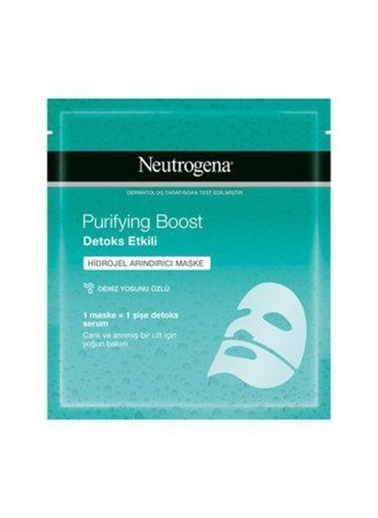 Neutrogena Neutrogena Kağıt Maske Purifying Boost Detoks Etkili Hidrojel 30 Ml Renksiz